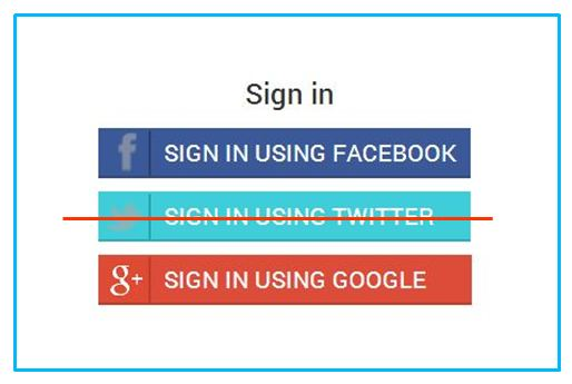 Discontinue Twitter Sign in